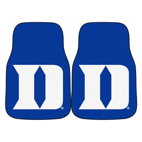 Duke Blue Devils NCAA 2 Piece Printed Carpet Car Mats 18x27