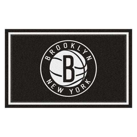 Brooklyn Nets NBA 4x6 Rug 46x72