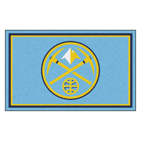 Denver Nuggets NBA 4x6 Rug 46x72
