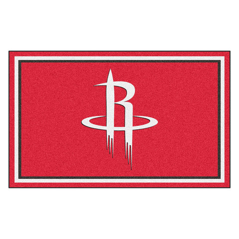 Houston Rockets NBA 4x6 Rug 46x72