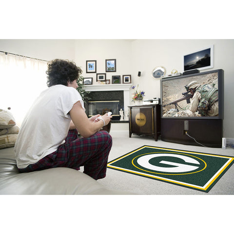 Greenbay Packers NFL Floor Rug 4x6