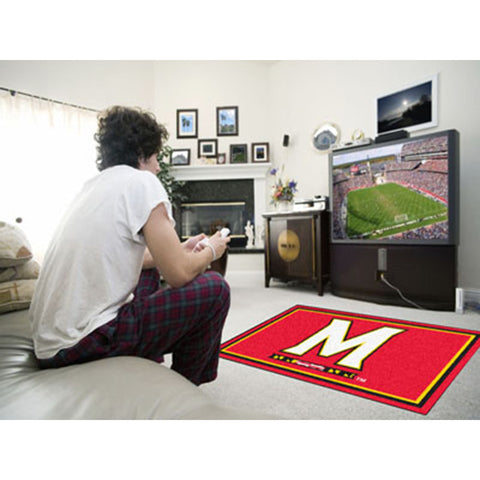 Maryland Terps NCAA Floor Rug 4x6