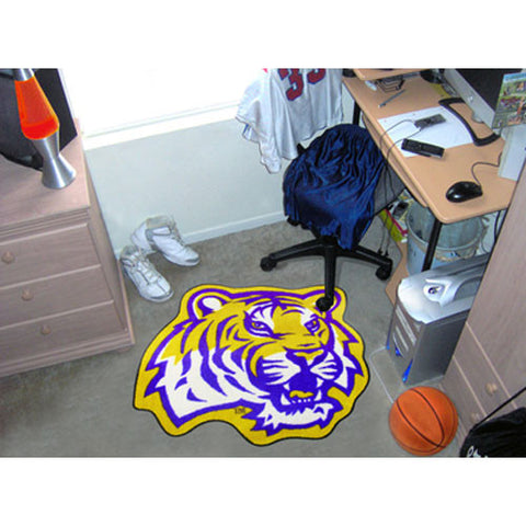Louisiana State Fightin Tigers NCAA Cut Out Floor Mat Tiger Head