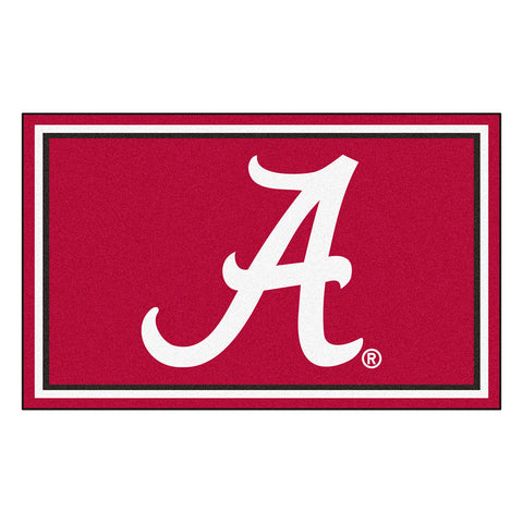 Alabama Crimson Tide NCAA 4x6 Rug 46x72