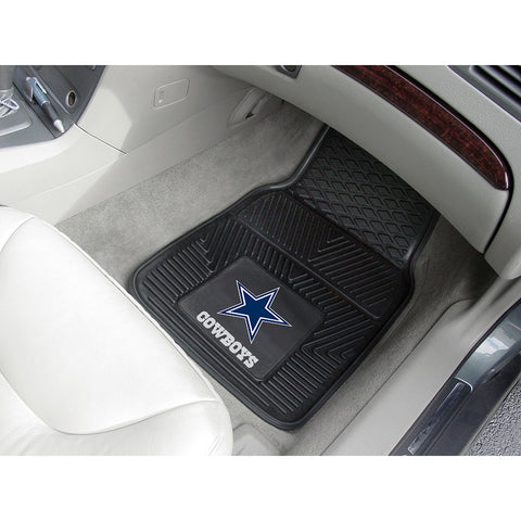 Dallas Cowboys NFL Heavy Duty 2 Piece Vinyl Car Mats 18x27