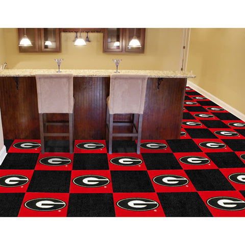 Georgia Bulldogs NCAA Team Logo Carpet Tiles