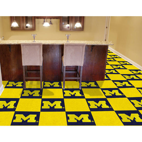 Michigan Wolverines NCAA Team Logo Carpet Tiles