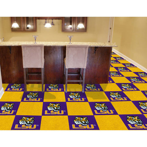 Louisiana State Fightin Tigers NCAA Team Logo Carpet Tiles