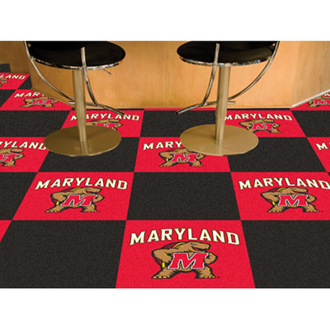 Maryland Terps NCAA Team Logo Carpet Tiles