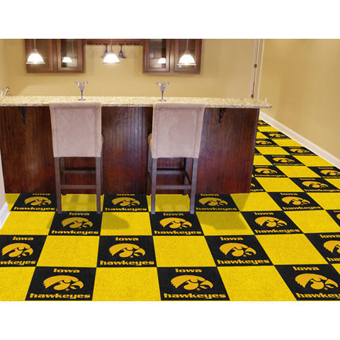 Iowa Hawkeyes NCAA Team Logo Carpet Tiles