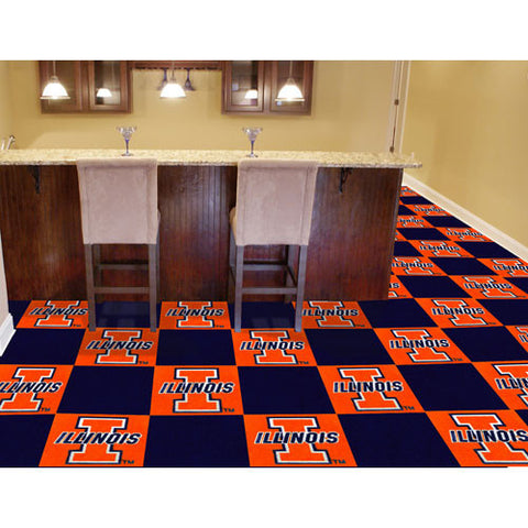 Illinois Fighting Illini NCAA Team Logo Carpet Tiles