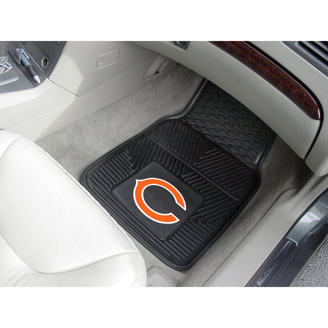 Chicago Bears NFL Heavy Duty 2 Piece Vinyl Car Mats 18x27