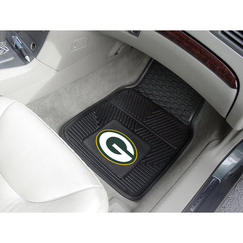 Green Bay Packers NFL Heavy Duty 2 Piece Vinyl Car Mats 18x27