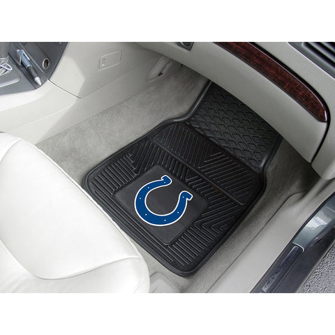 Indianapolis Colts NFL Heavy Duty 2 Piece Vinyl Car Mats 18x27