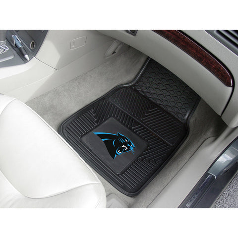 Carolina Panthers NFL Heavy Duty 2 Piece Vinyl Car Mats 18x27
