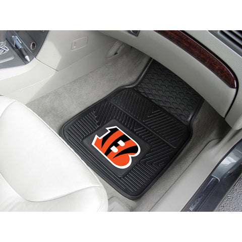 Cincinnati Bengals NFL Heavy Duty 2 Piece Vinyl Car Mats 18x27