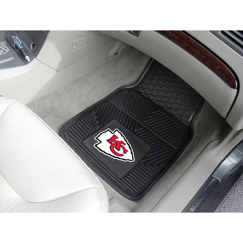 Kansas City Chiefs NFL Heavy Duty 2 Piece Vinyl Car Mats 18x27