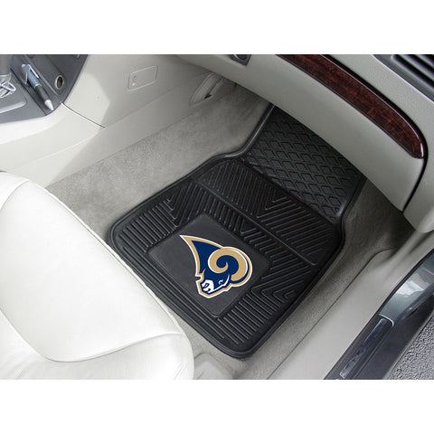 Los Angeles Rams NFL Heavy Duty 2 Piece Vinyl Car Mats 18x27