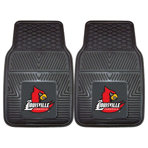 Louisville Cardinals NCAA Heavy Duty 2 Piece Vinyl Car Mats 18x27