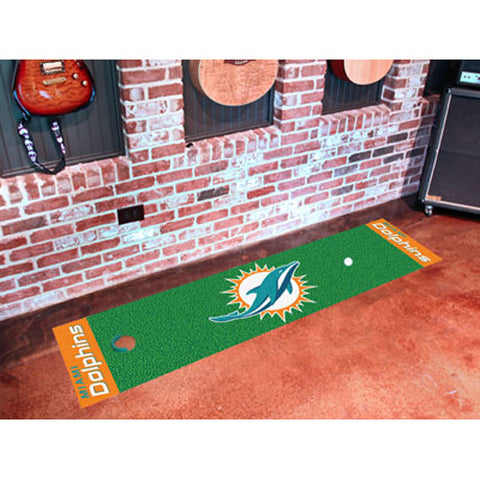Miami Dolphins NFL Putting Green Runner 18x72