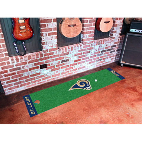 Los Angeles Rams NFL Putting Green Runner 18x72