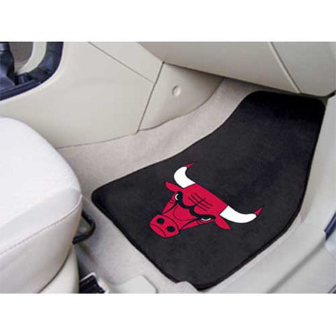 Chicago Bulls NBA 2 Piece Printed Carpet Car Mats 18x27