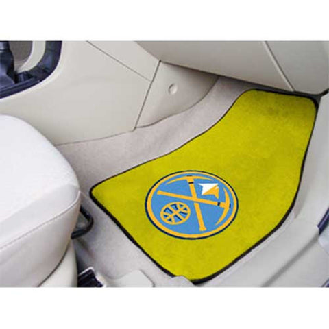 Denver Nuggets NBA 2 Piece Printed Carpet Car Mats 18x27