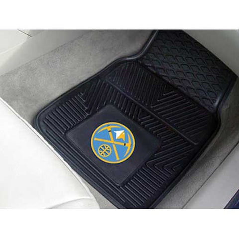 Denver Nuggets NBA Heavy Duty 2 Piece Vinyl Car Mats 18x27