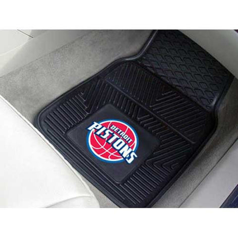 Detroit Pistons NBA Heavy Duty 2 Piece Vinyl Car Mats 18x27