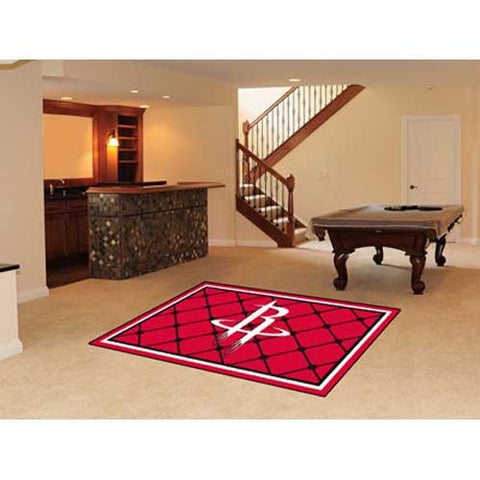 Houston Rockets NBA 5x8 Rug 60x92