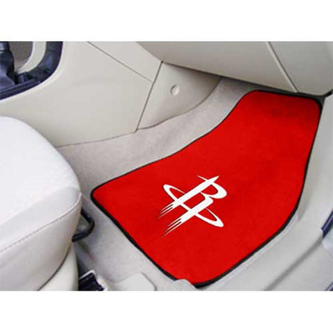 Houston Rockets NBA 2 Piece Printed Carpet Car Mats 18x27