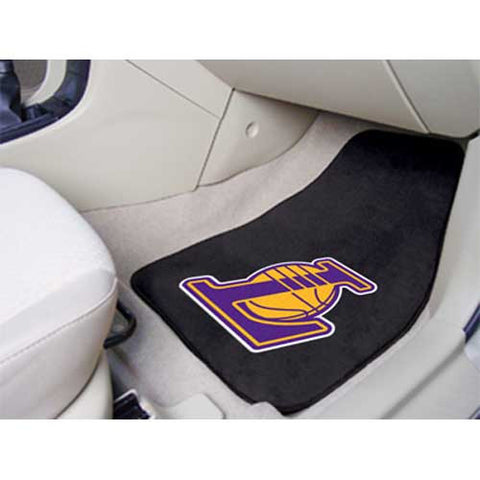 Los Angeles Lakers NBA 2 Piece Printed Carpet Car Mats 18x27