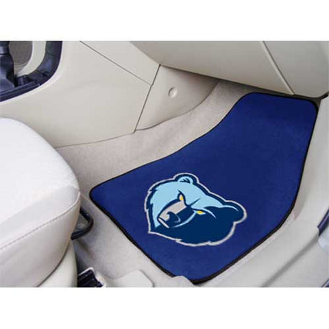 Memphis Grizzlies NBA 2 Piece Printed Carpet Car Mats 18x27