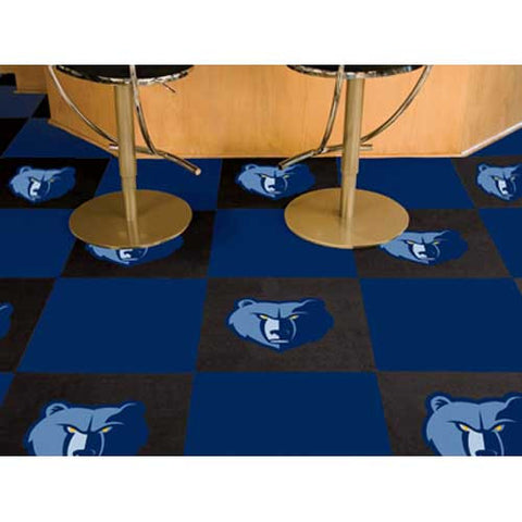 Memphis Grizzlies NBA Carpet Tiles 18x18