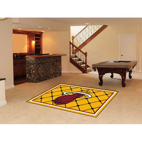 Miami Heat NBA 5x8 Rug 60x92