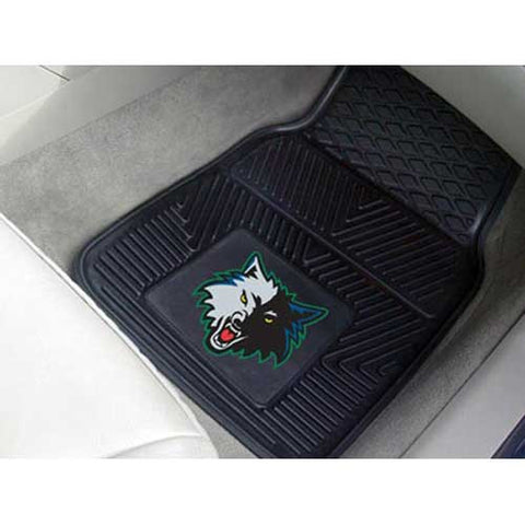 Minnesota Timberwolves NBA Heavy Duty 2 Piece Vinyl Car Mats 18x27