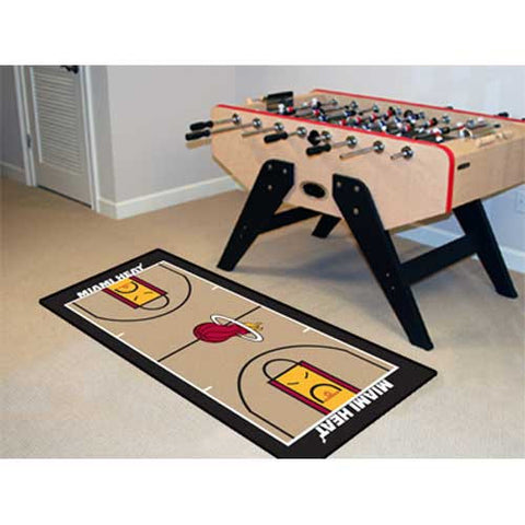 Miami Heat NBA 2x4 Court Runner 24x44