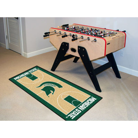 Michigan State Spartans NCAA Court Runner 29.5x72