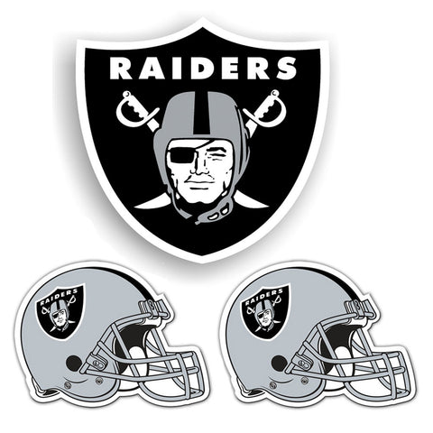 Oakland Raiders NFL Ultimate Car Magnet Kit 3Pc Set