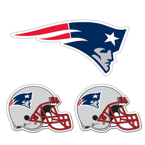 New England Patriots NFL Ultimate Car Magnet Kit 3Pc Set