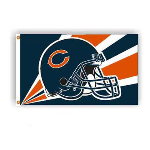 Chicago Bears NFL Helmet Design 3x5 Banner Flag