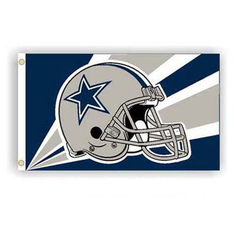 Dallas Cowboys NFL Helmet Design 3x5 Banner Flag