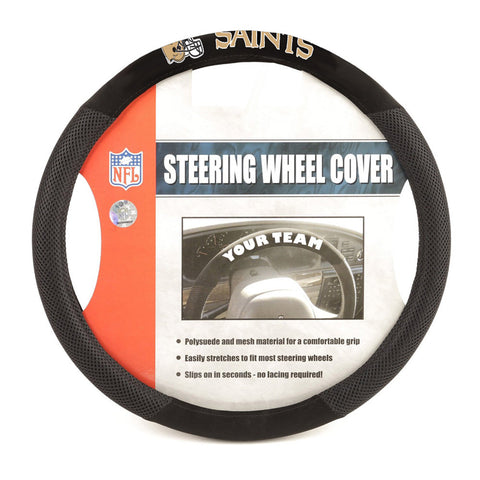 New Orleans Saints NFL Mesh Steering Wheel Cover