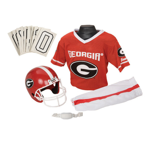 Georgia Bulldogs Youth NCAA Deluxe Helmet and Uniform Set