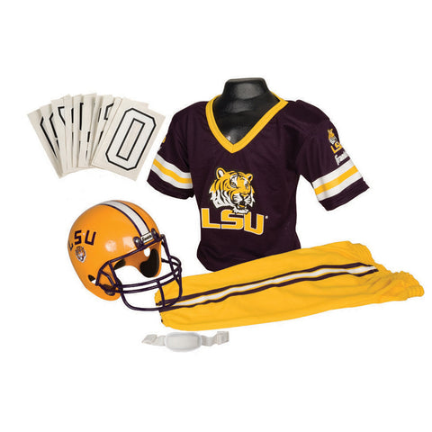 LSU Tigers Youth NCAA Deluxe Helmet and Uniform Set