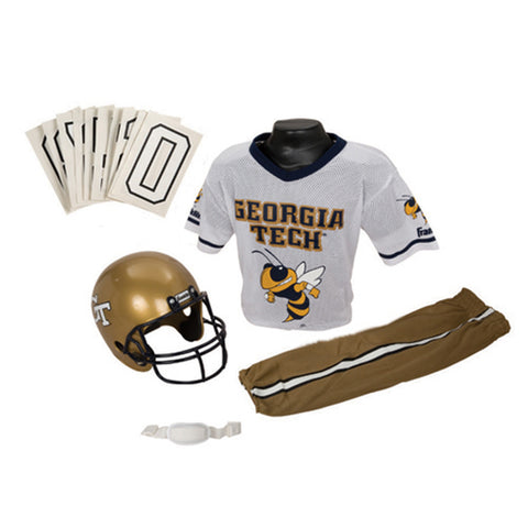 Georgia Tech Yellowjackets Youth NCAA Deluxe Helmet and Uniform Set