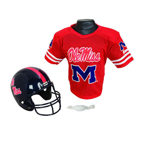 Mississippi Rebels Youth NCAA Helmet and Jersey Set