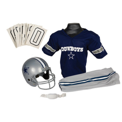 Dallas Cowboys Youth NFL Deluxe Helmet and Uniform Set