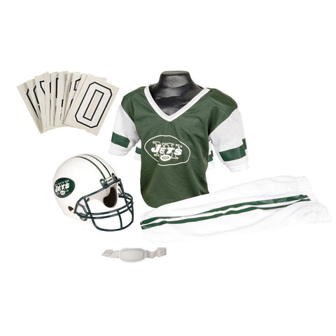 New York Jets Youth NFL Deluxe Helmet and Uniform Set