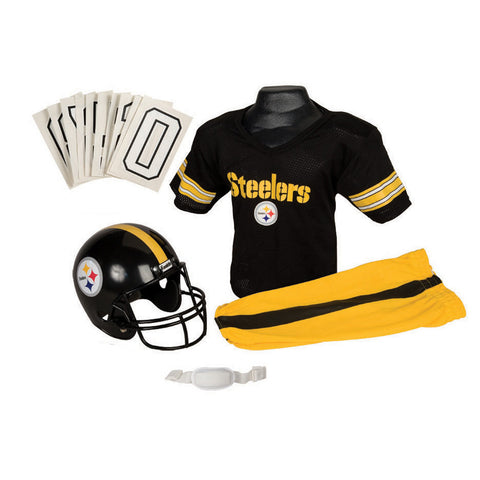 Pittsburgh Steelers Youth NFL Deluxe Helmet and Uniform Set